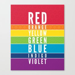 EDUCATIONAL RAINBOW COLORS bold modern classroom typography art Canvas Print