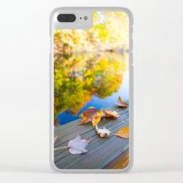 Gently Fallen Clear iPhone Case