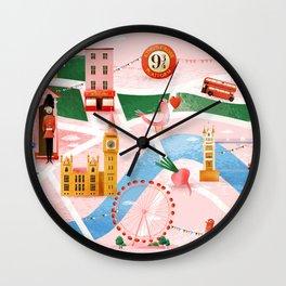 Map of London Wall Clock
