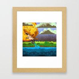 Osprey River Hunt Framed Art Print