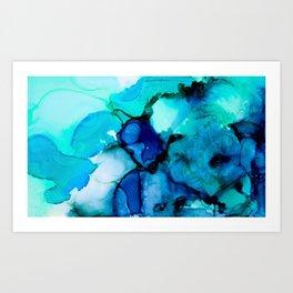 Booming Turquoise Art Print