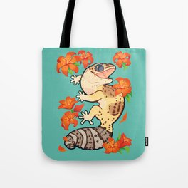 Fire lily gecko Tote Bag