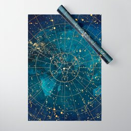 Star Map :: City Lights Wrapping Paper