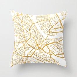 BASEL SWITZERLAND CITY STREET MAP ART Throw Pillow