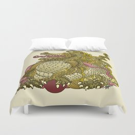 Dragon Royal Gold Duvet Cover