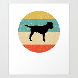 Border Terrier Dog Gift design Art Print