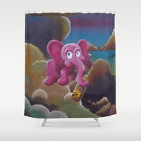 tequila Shower Curtains featuring Tequila Sunrise by Evan Ames