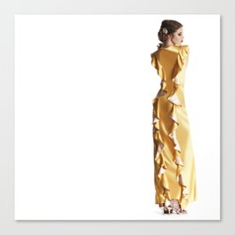 The marigold Dress Canvas Print