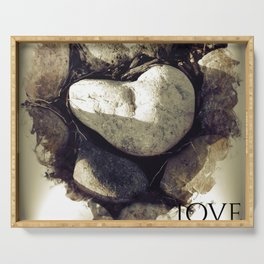 Our Love Is Carved in Stone Serving Tray