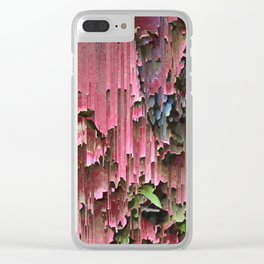 Flawed Flowers Clear iPhone Case