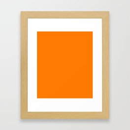 Heat Wave - solid color Framed Art Print