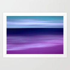 purple beach XI Art Print