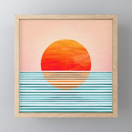 Minimalist Sunset III Framed Mini Art Print