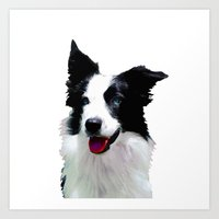 border collie Art Prints featuring Border Collie by Albert Tjandra