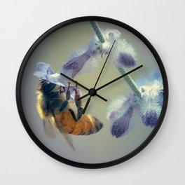 Purple and Honey(bee) Wall Clock