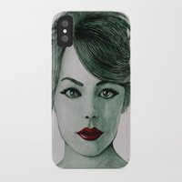 emma stone iPhone & iPod Cases featuring Emma Stone  by Arch & Aya