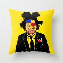 Jean Michelle Basquiat Throw Pillow
