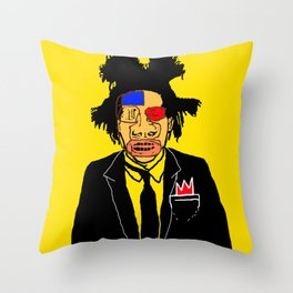 Jean Michelle Basquiat Throw Pillow