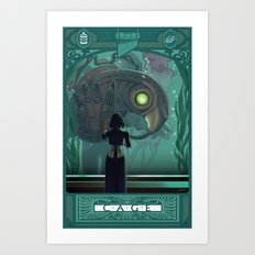 Art Nouveau Bioshock Infinite - Elizabeth and Songbird Art Print