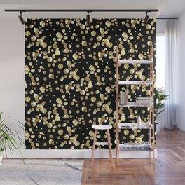 Golden confetti. Brilliant . Wall Mural
