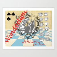 alice wonderland Art Prints featuring Wonderland by TooShai Studios