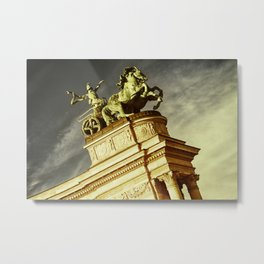 Statue of War on the Heroes Square in Budapest Metal Print