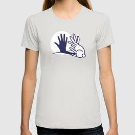 hand shadow rabbit T-shirt