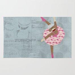 Sock Monkey Ballerina Rug