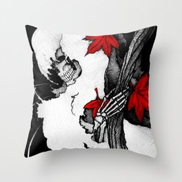 Death in Fall Throw Pillow
