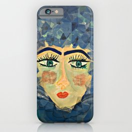 Ms. Blue Holiday  iPhone Case