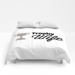Trophy Wife Quote Comforters