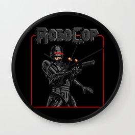 Black Robocop Remix Wall Clock