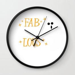 I am Fab BOO Lous Spooky Halloween Ghost Costume Wall Clock