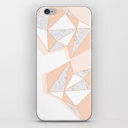 Geometric Nude Color Terrazzo Abstract Design iPhone Skin