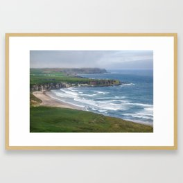 Irish Coast - Coastline - Landscape - Travel Photography - Drawn Voyage Framed Art Print