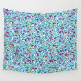 Flowers, Clovers & Diamonds Wall Tapestry
