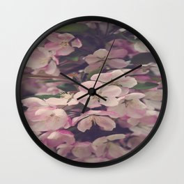 Timeless Blooms Wall Clock