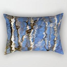 Abstract Aspen Tree Reflection Rectangular Pillow