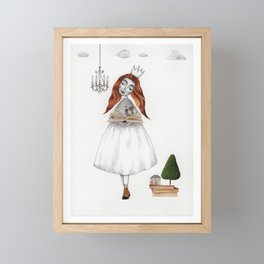 Picture Six: The Book Framed Mini Art Print