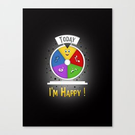 I am Happy Canvas Print