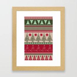 Pine Tree Ugly Sweater Framed Art Print