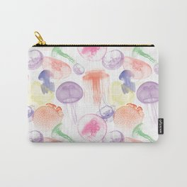 Electric Jellyfish in White Carry-All Pouch