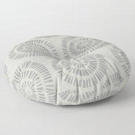 WHITE RANDOM CIRCLES Floor Pillow