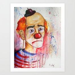 Le Clown de Joie-Ville Art Print