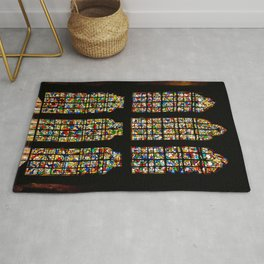 King's Chapel Stained Glass Window Tower of London England Rug
