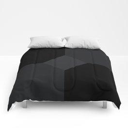 Simply Black on Black Comforters