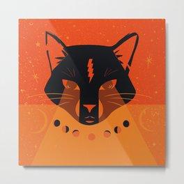 Black Cat Mystic Oracle Metal Print