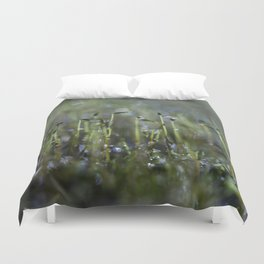 dewy moss sprouts Duvet Cover