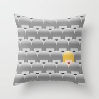 sia Throw Pillows featuring Thousand faces of Sia. by dornellaz