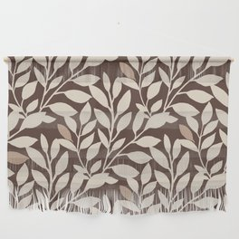 Leaves and Branches in Cream and Brown Wall Hanging